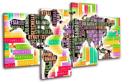 Typography World Atlas Maps Flags - 13-1519(00B)-MP04-LO